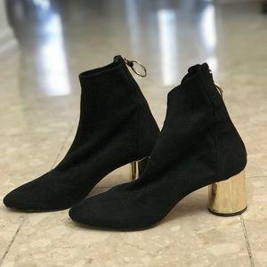 Zara Black Sock Booties